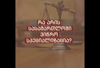 Embedded thumbnail for ვიწრო სპეციალიზაციების ფორმა საერთო სასამართლოების სისტემაში